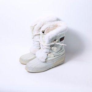 SOREL Kaufman Canada Rubber Fuzzy Boots_Size 7